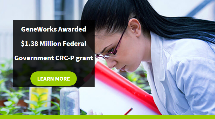 GeneWorks Awarded $1.38 Million Federal Government CRC-P Grant