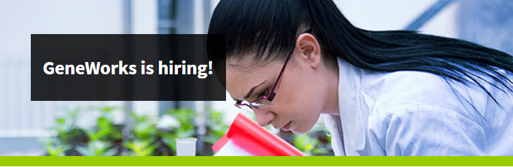 GeneWorks is hiring in Melbourne and Adelaide
